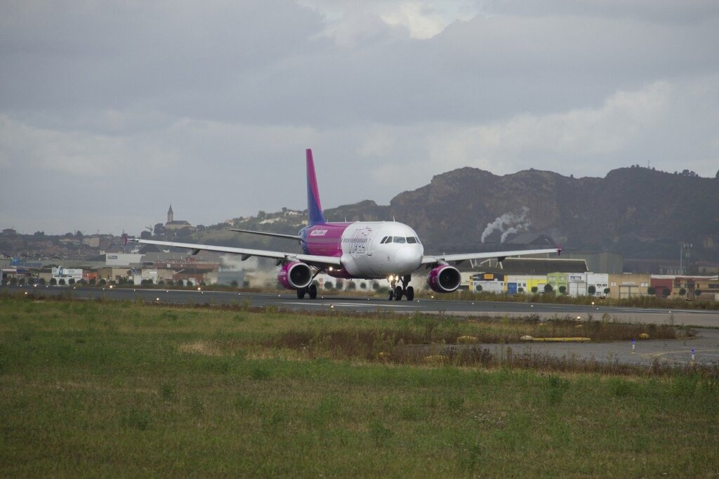 Wizz air plane on a runway