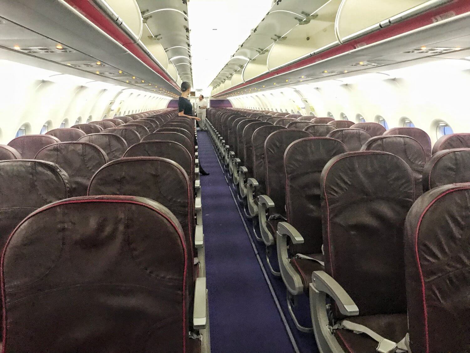 Wizz Air review: the inside of a Wizz Air plane