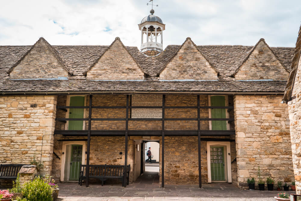 Perry and Dawes Almshouses in Wotton under Edge, England in the Cotswolds