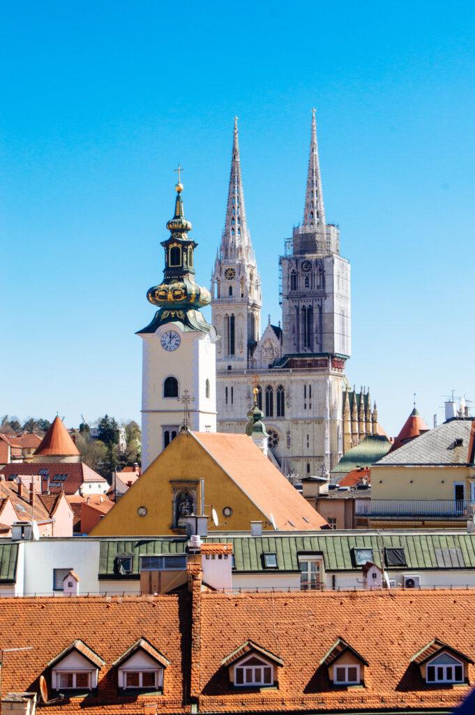 Zagreb view from Lotrščak Tower