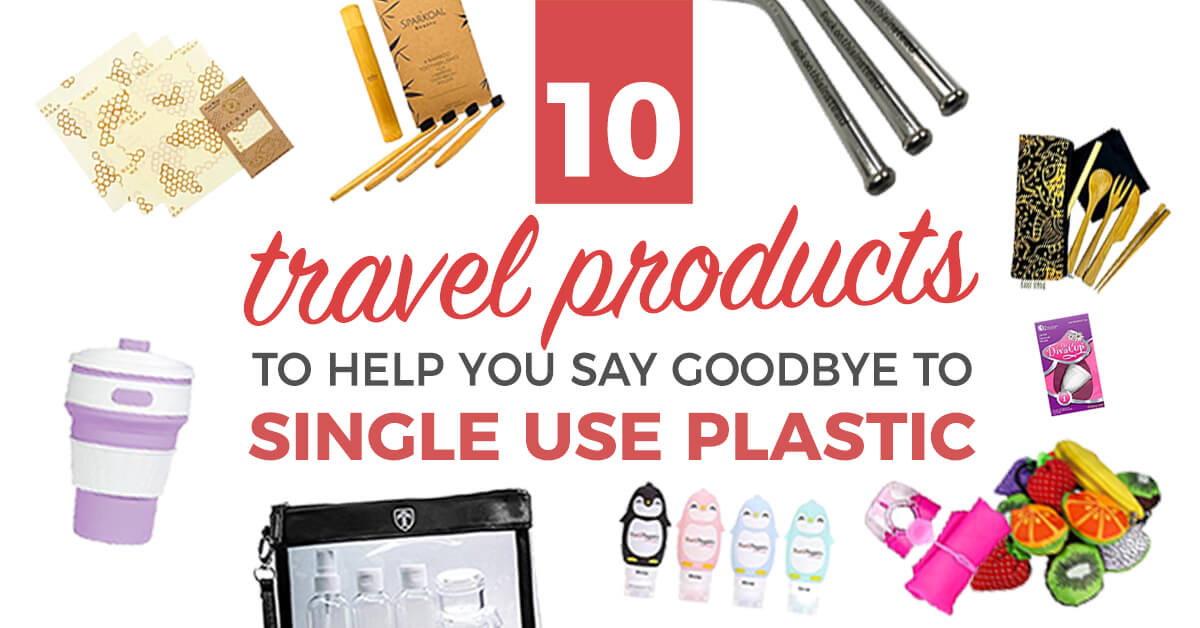 These gamechanging products will help you seriously cut down on single-use plastics when you travel. Don't miss this roundup of cheap, awesome travel products/gear that are not just easy on the wallet, but better for the planet too. #travel #zerowaste