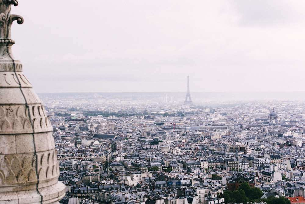 The best view ever from the Sacre Coeur Basilica in Montmartre, Paris