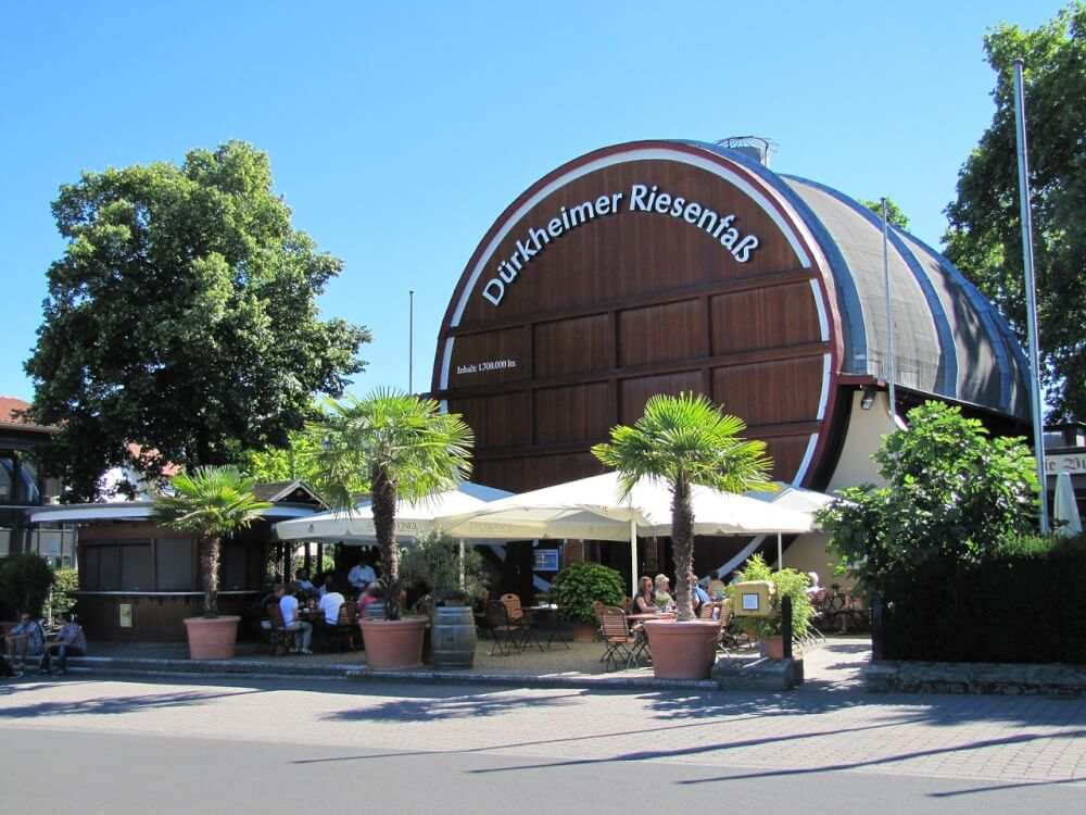 Large wine barrel in Germany