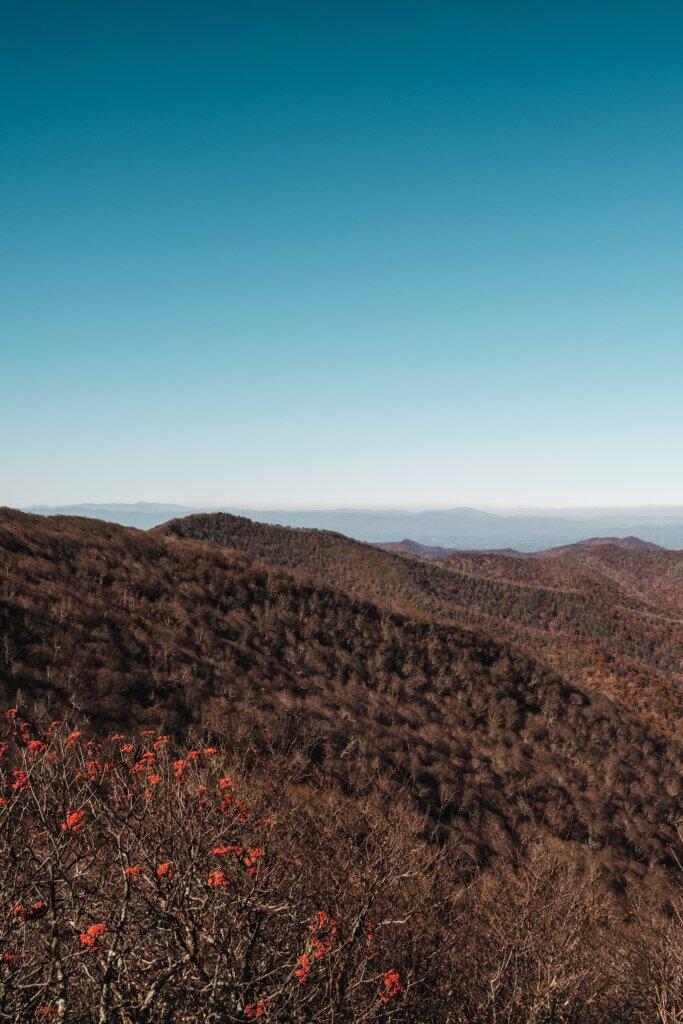 Mountain views along the Blue Ridge parkway in North Carolina