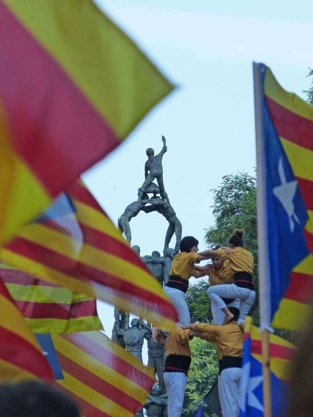 Castellers in Barcelona, Spain