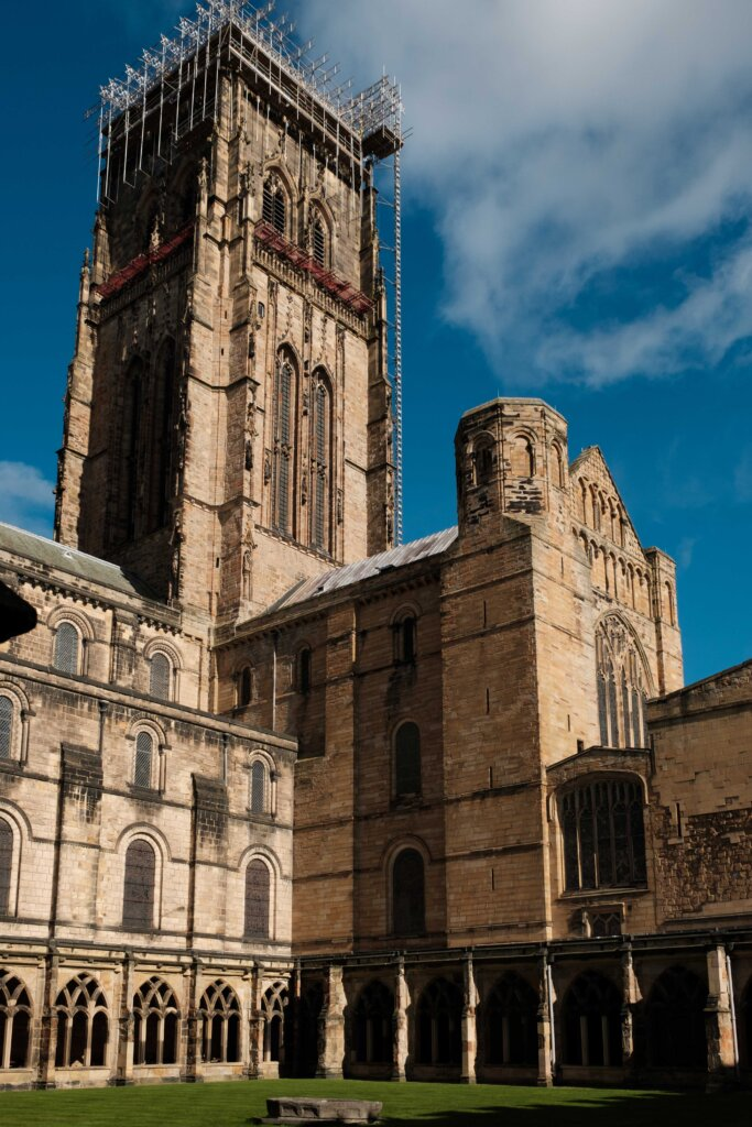 Durham Cathedral courtyard and cloisters