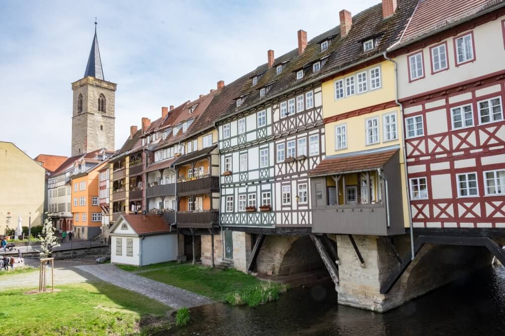 Merchant's bridge in Erfurt, Germany