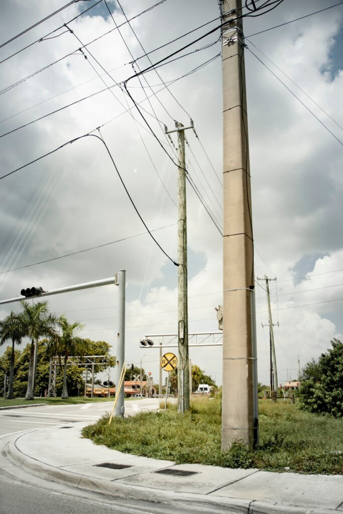 A cloudy Florida sky before a storm.