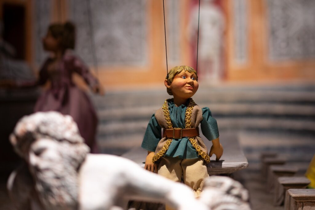 Close-up of a marionette in the marionette museum in Salzburg, Austria