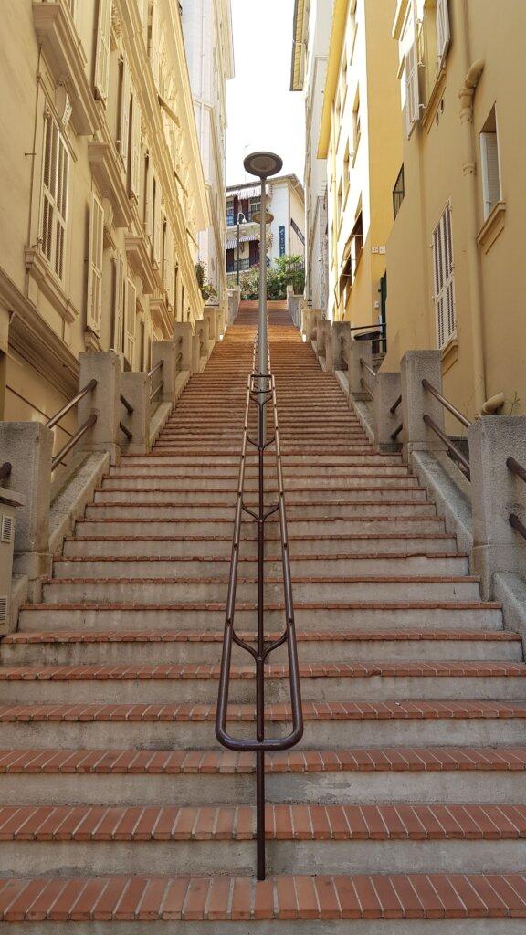 Steep stairwell in Monaco