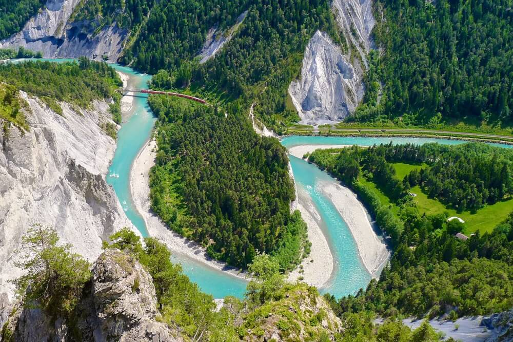Rhine Gorge in Switzerland