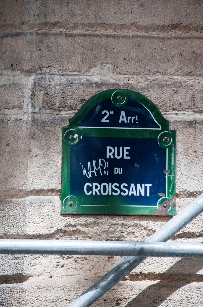Rue du Croissant sign in Paris