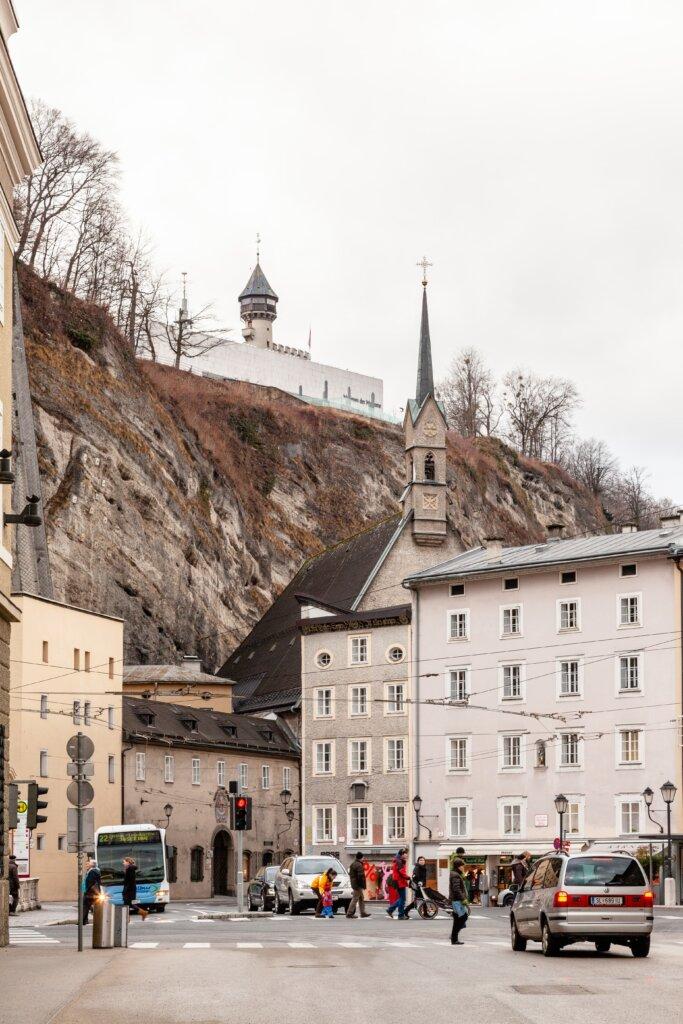 Busy street in Salzburg