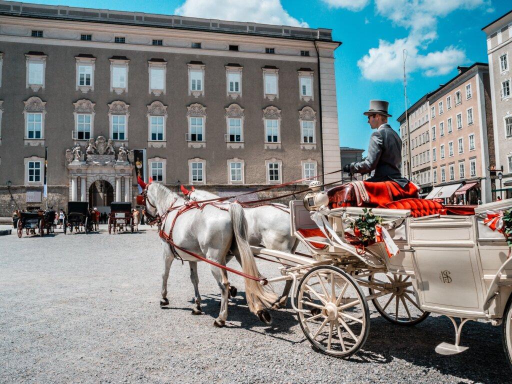 Horse carriage in Salzburg Austria
