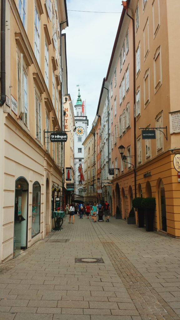 Salzburg Old Town in the summer