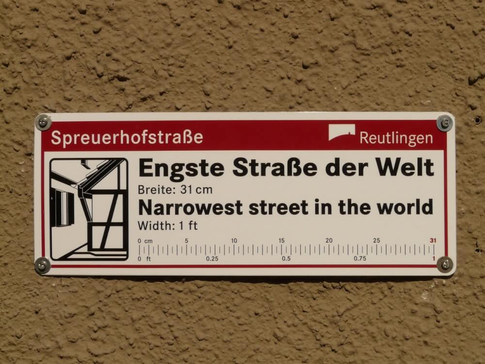 Spreuerhofstrasse - the narrowest street in the world